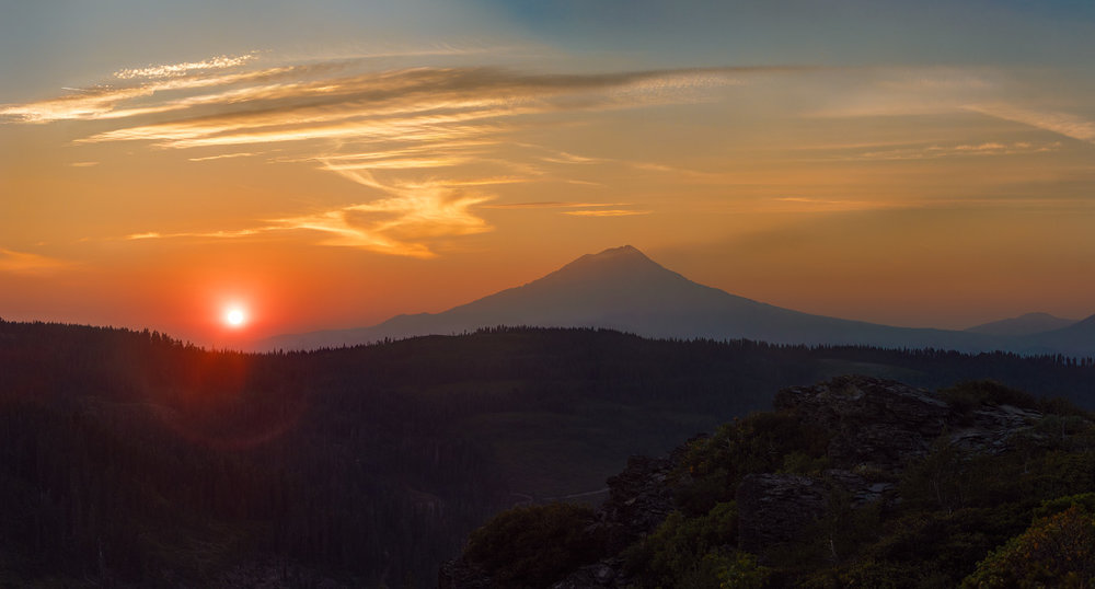 Sunset on Mount Shasta, California, Pacific Crest Trail; 2018.