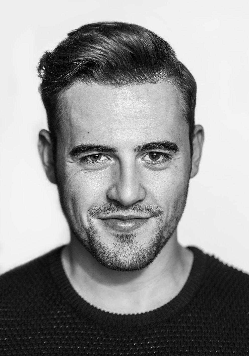 Adam Godoi black and white portrait