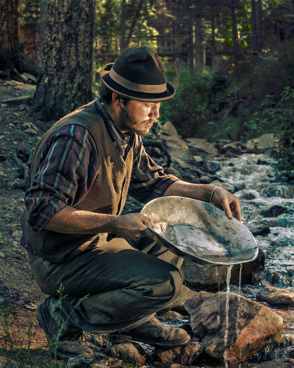 Art Woodard Miner Cyphers Mine Philmont Scout Ranch Cimarron New Mexico