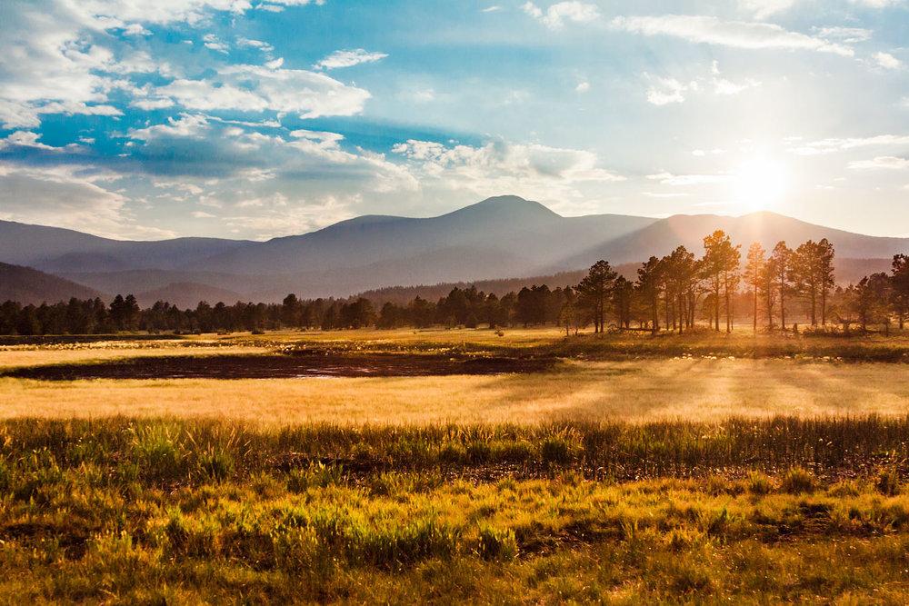 Wilson Mesa Sunset Philmont Scout Ranch Cimarron New Mexico
