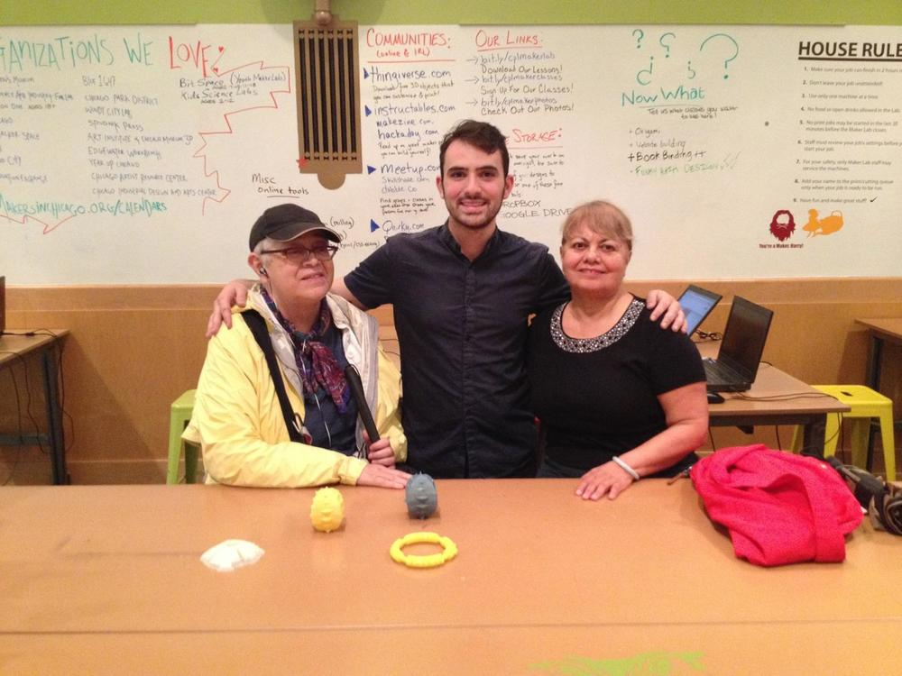 With guests at the Chicago Public Library Maker Lab