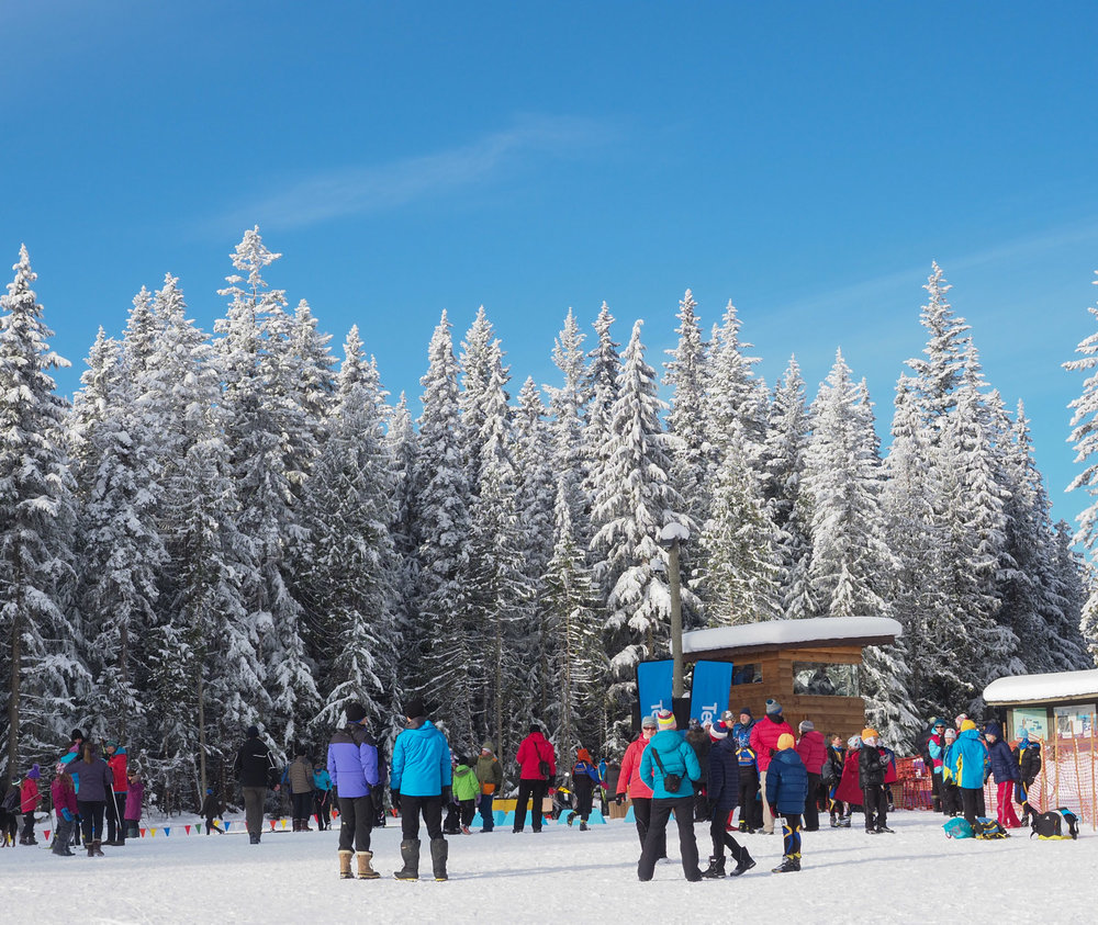 Sunny skies and cool temperatures made for great skiing conditions at Larch Hills