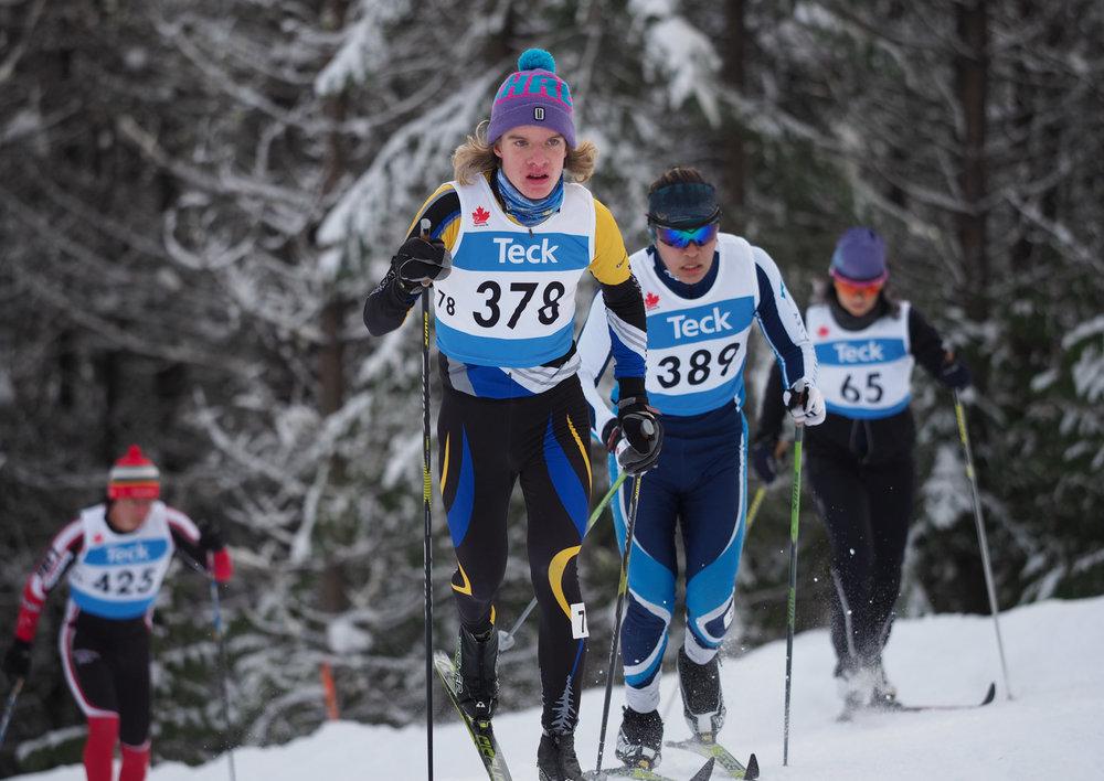 Aidan in the Junior Boys 7.5 km Classic