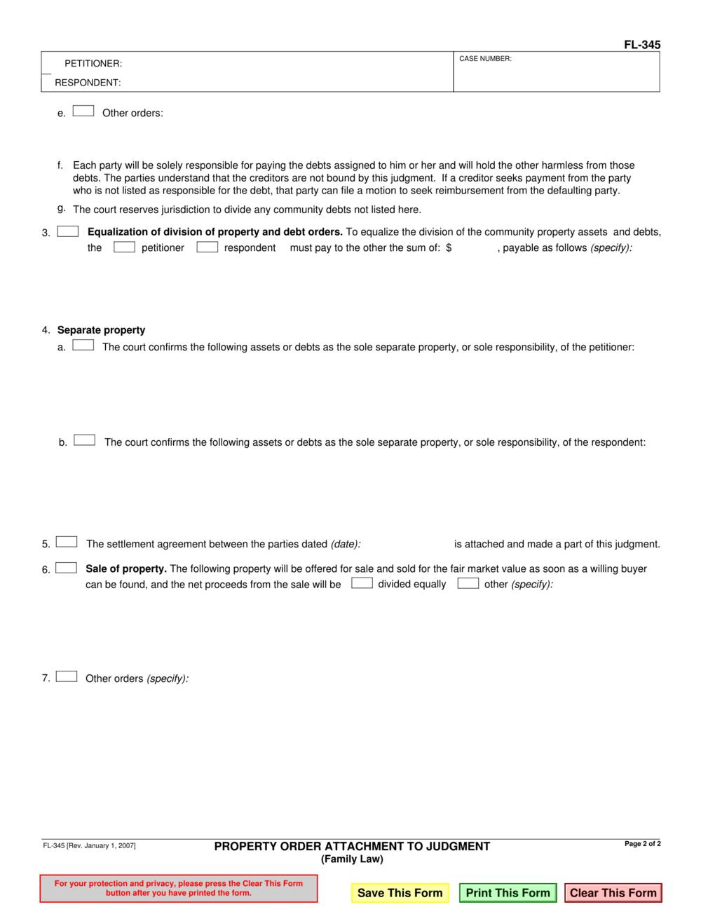 florida separation legal form