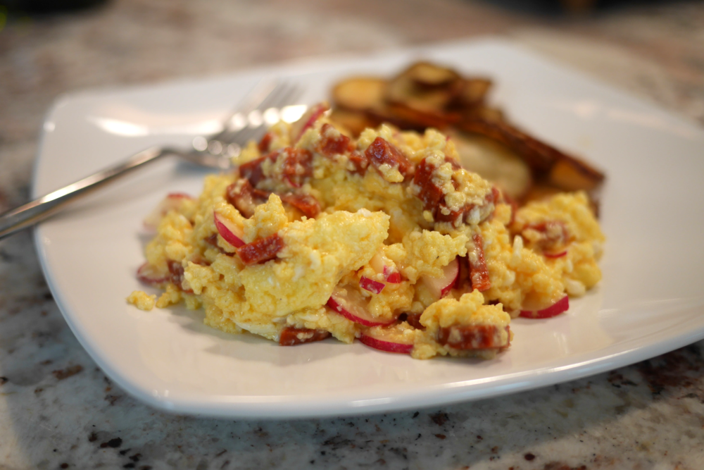 chorizo_and_radish_soft_scramble