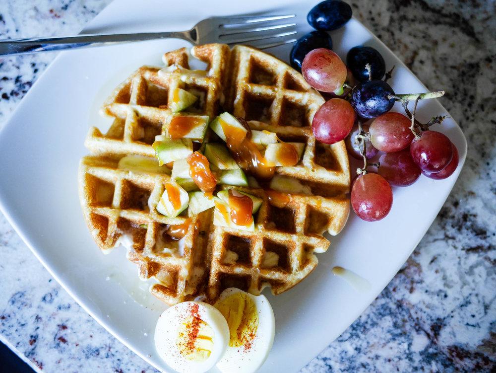 Gluten Free Caramel Apple Waffle