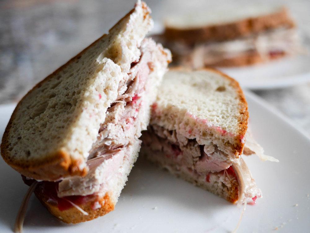 Turkey-Cranberry-Cream-Cheese Sandwich