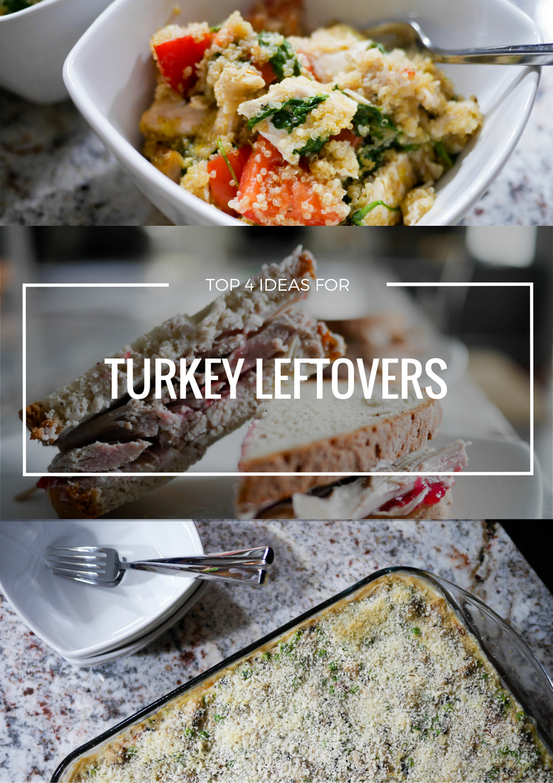 Leftover Thanksgiving Turkey is the best. The turkey, cranberry and cream cheese sandwich is a dish I look forward to every year. The Turkey Tetrazzini is said to be better than the Thanksgiving meal itself. Feeling guilty? The quinoa and the salad help give you the nutrient boost you're craving after your carbo-loading day of thanks.