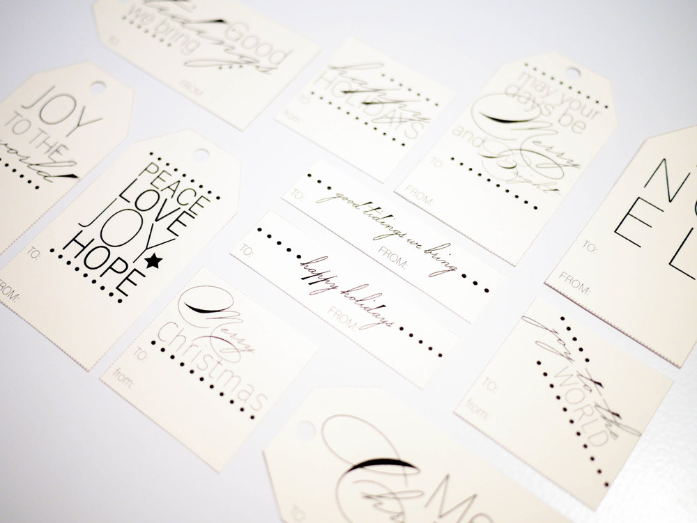 For those who want a more classic tag to accompany their gifts, these simple holiday gift tags are for you.