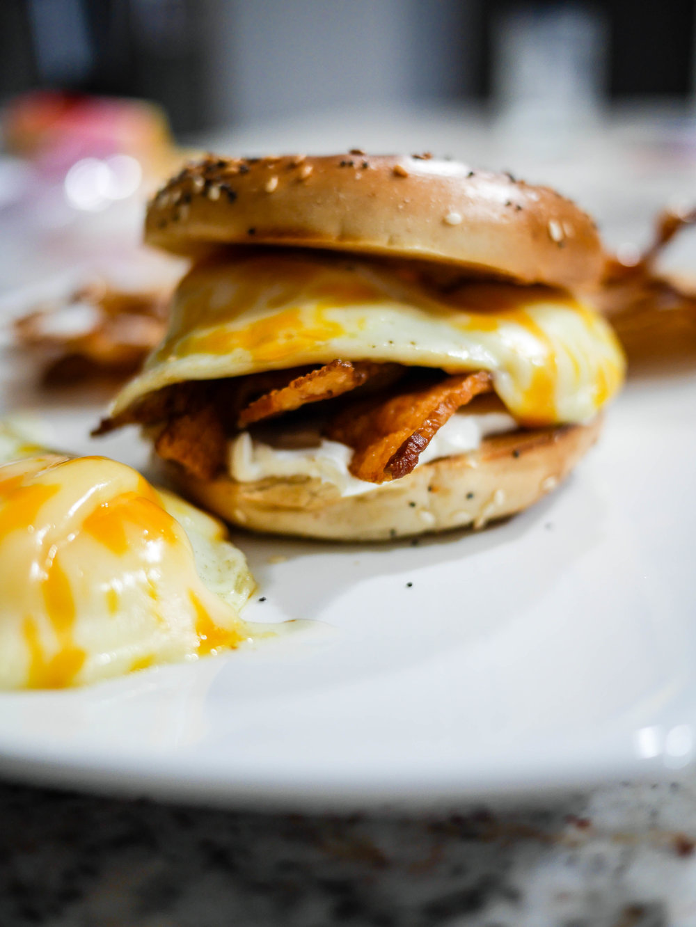 Seems pretty basic, but a couple of key components make this egg sandwich the ultimate comfort brunch item.