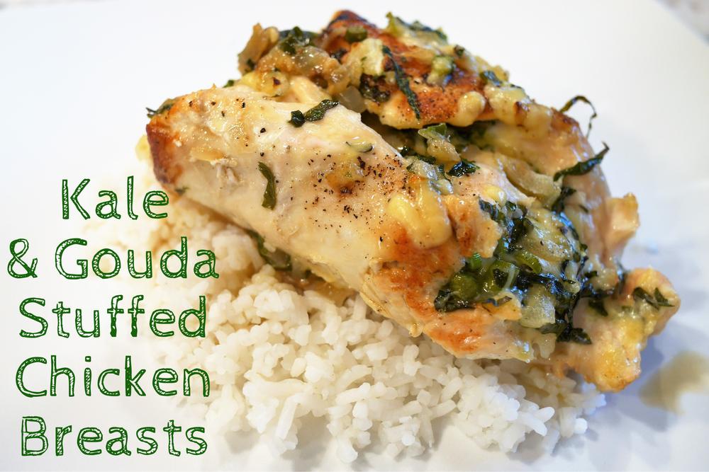 Kale & Gouda Stuffed Chicken Breasts from  melaniewinters.com .