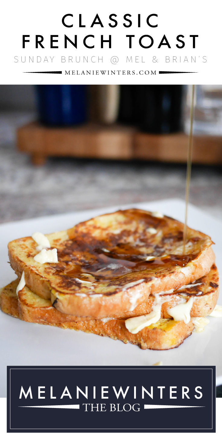 Classic french toast is always a favorite. With cinnamon and nutmeg it's the perfect balance of sweet and savory.