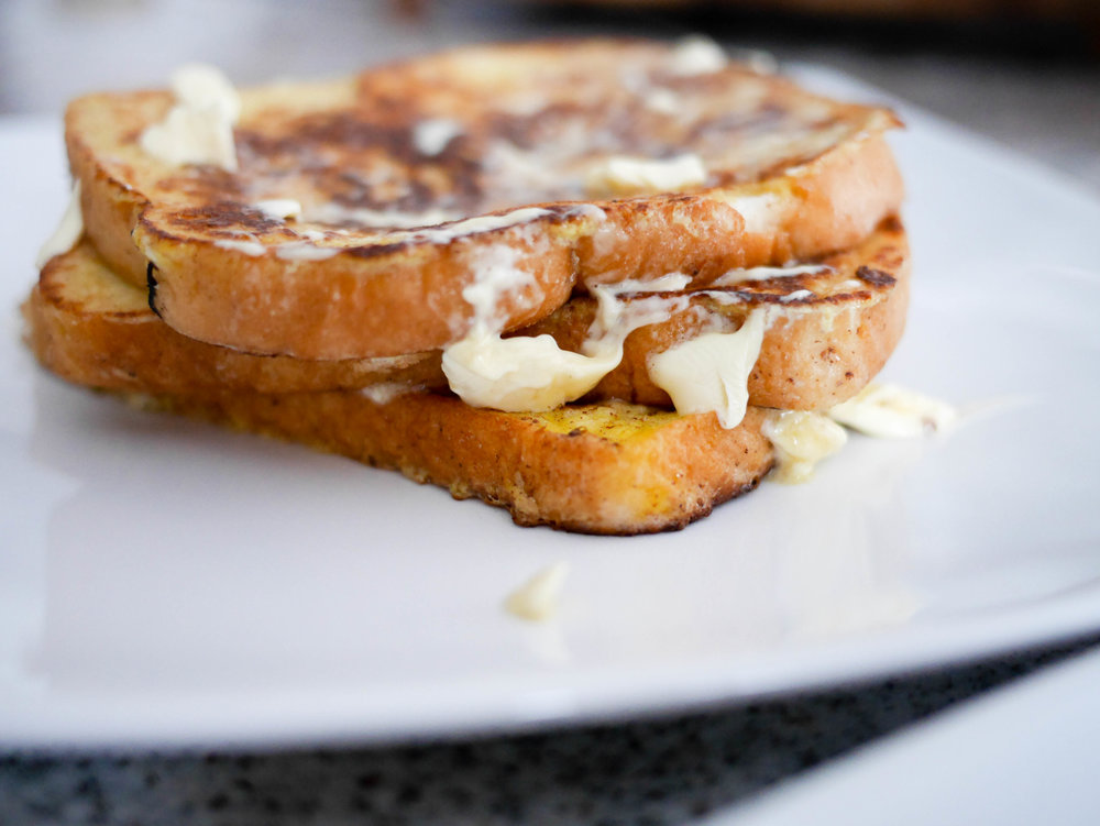 French toast is nothing without butter melting over the top!