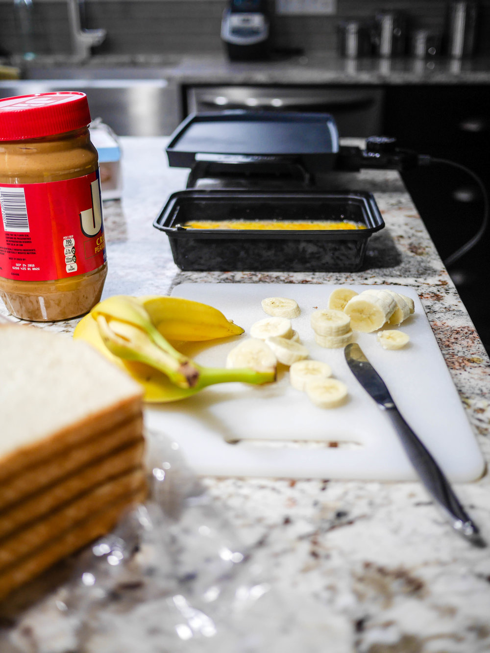 As with any french toast breakfast, you're going to want to get your assembly line in order before you heat up your griddle.