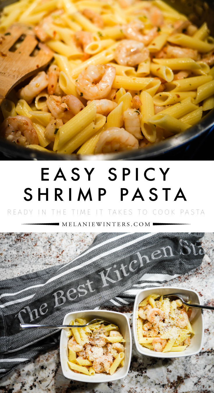 A few simple ingredients are all you need to create this quick, easy and delicious shrimp pasta. Ready in the time it takes to cook the noodles!