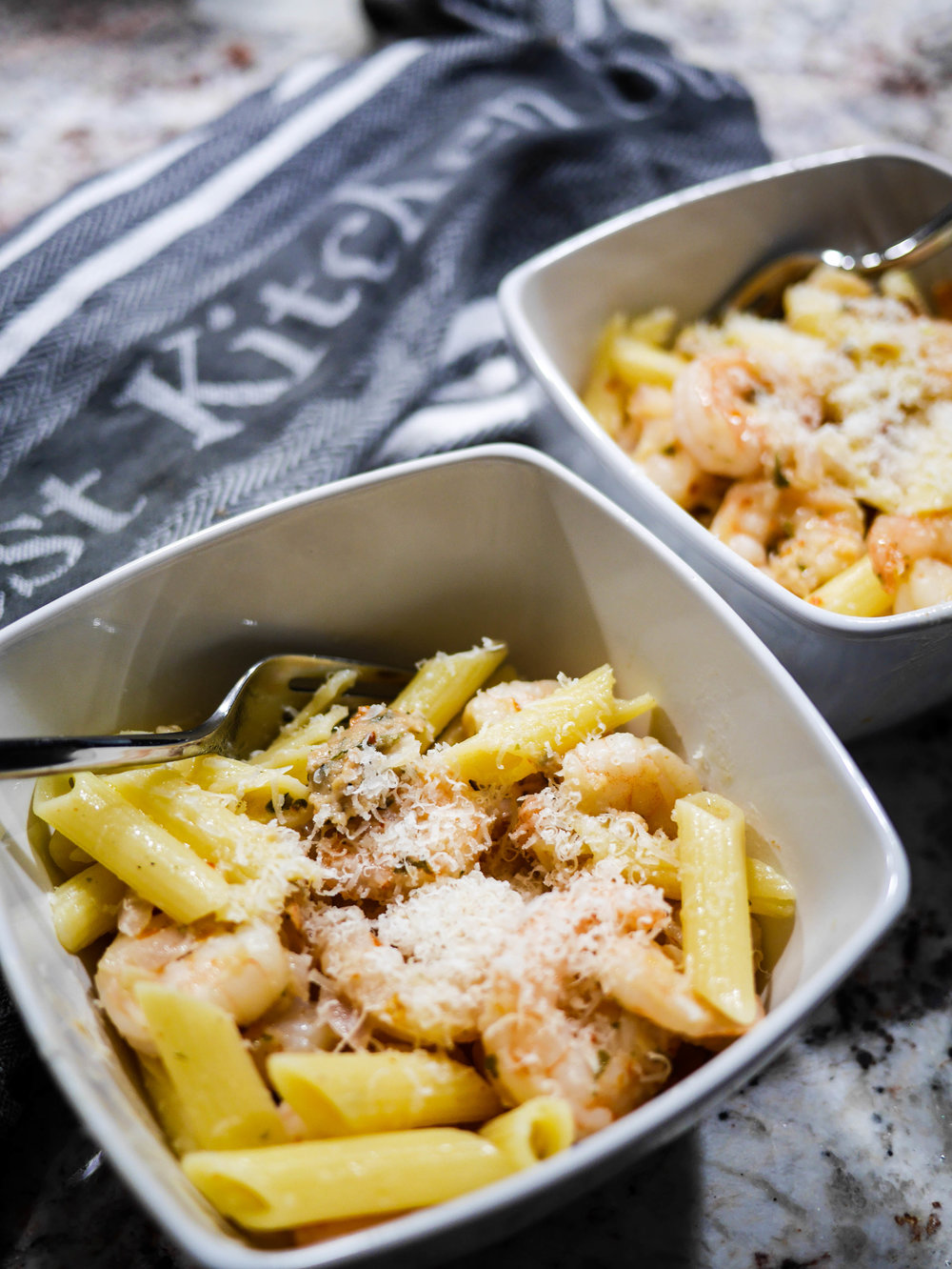 Ready in minutes, this shrimp pasta is easy but full of flavor.