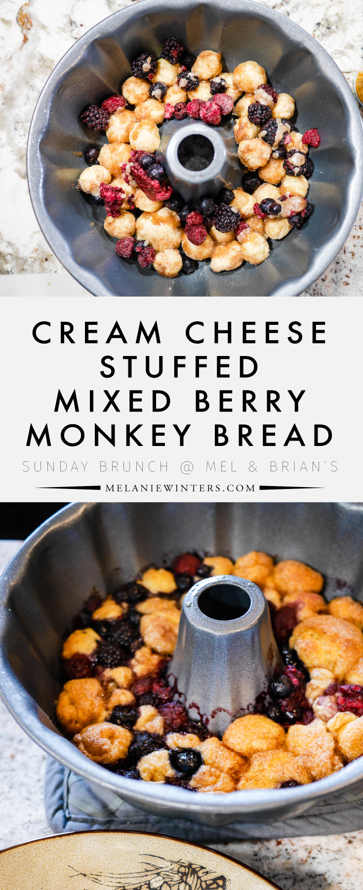 Stuffed with cream cheese and tossed with cinnamon sugar, this mixed berry monkey bread is an easy sweet addition to your brunch menu.