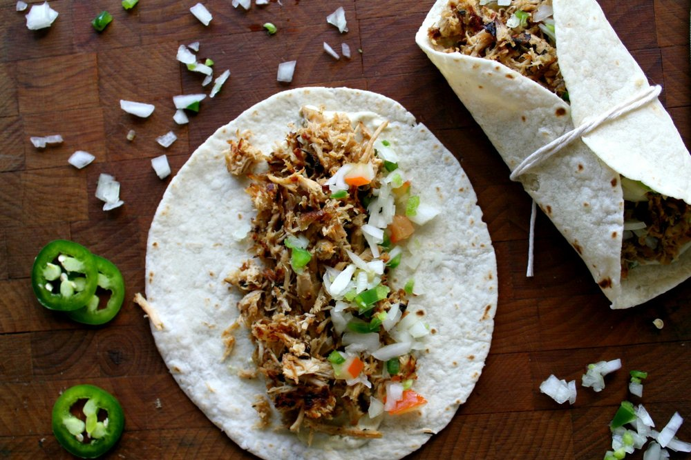Full of flavor, these carnitas tacos from A Flavor Journal speak for themselves. Top with a little Pico and you're set. Image from Sara at A Flavor Journal - written permission for use granted.