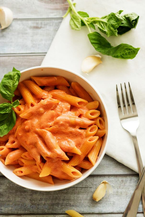 This simple Penne Alla Vodka from Berly's Kitchen is the perfect way to wrap up your work week. Photo from Kimberly at  Berly's Kitchen  - written permission received for use.