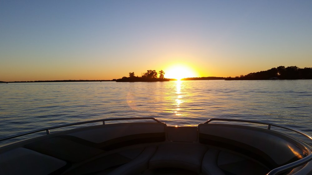 Hands down my favorite picnic location. A sunset cruise on Lake Minnetonka with a dinner packed is about as close as you can get to Heaven on Earth.