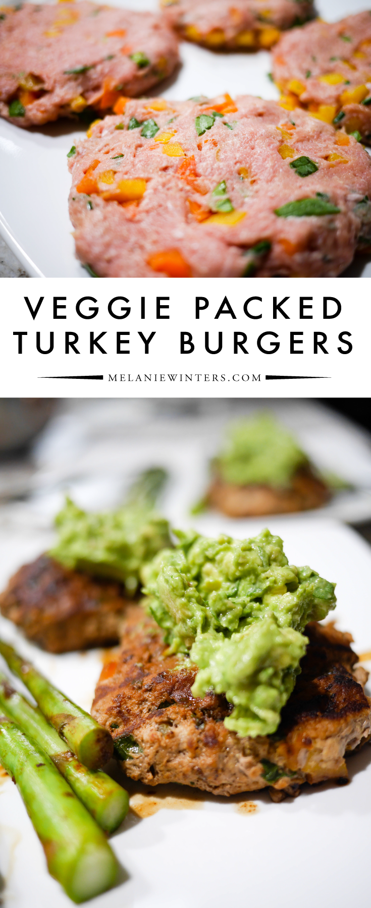 Packed with veggies, these turkey burgers are full of fresh flavors and an ideal low carb summer dinner.