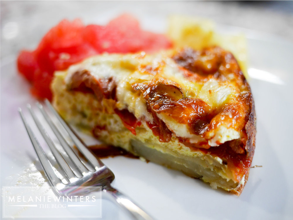 Potatoes, tomatoes, zucchini and onions make this gluten free quiche a nutritious way to start your day.