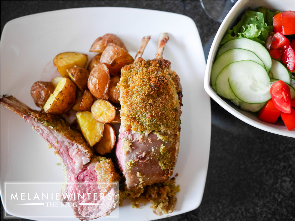 This mint crusted rack of lamb is my new go-to for special occasions.