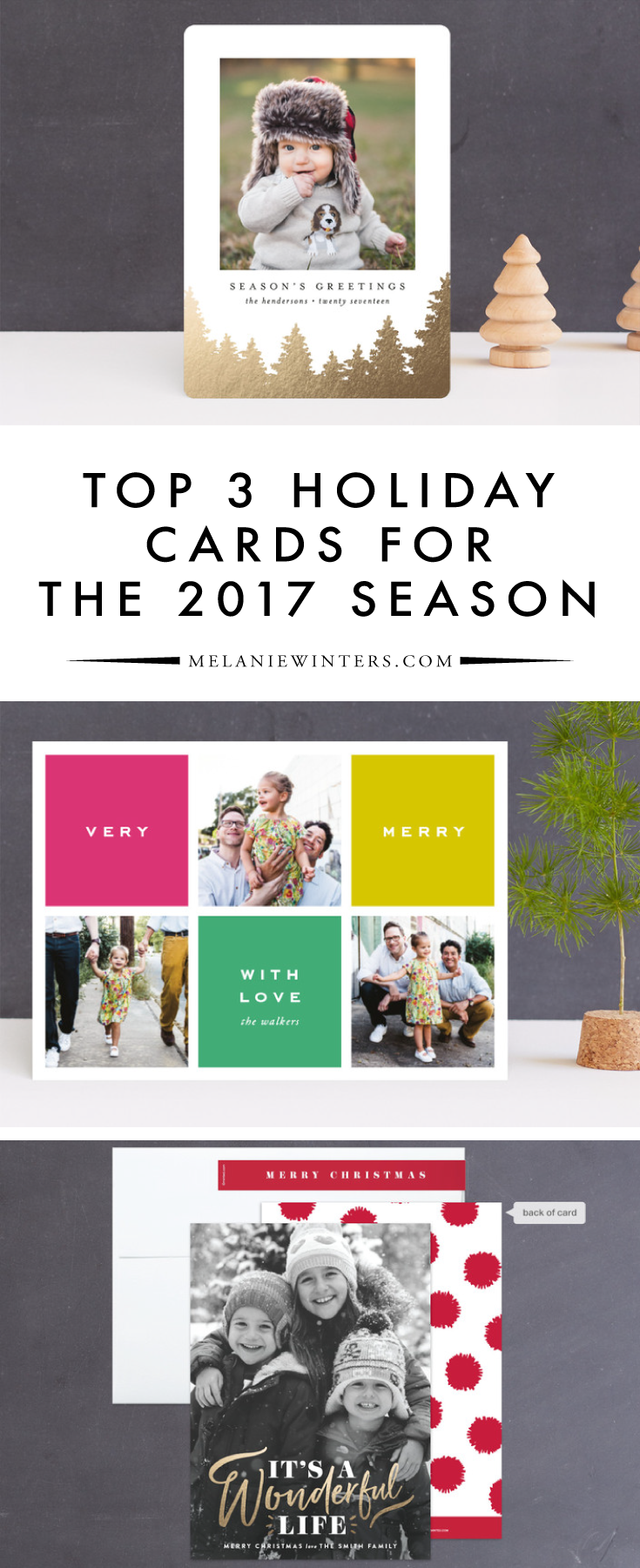 There's something for everyone when you browse Minted's wide array of holiday cards! Our top picks span three very different styles from classic to contemporary.