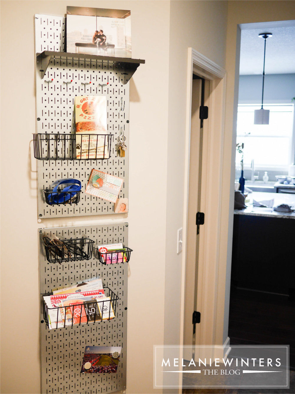 Galvanized steel pegboard is the perfect way to bring a flexible and modern twist to home organization.