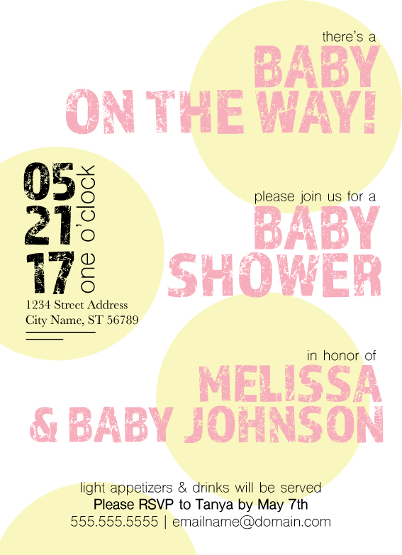 Available in pink, blue and purple, these customizable sunburst invitations are the perfect modern addition to your sunshine themed baby shower!