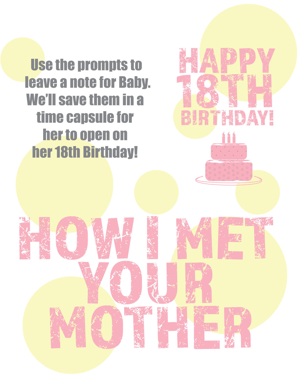 Click the image for an instant download of your How I Met Your Mother pdf printable.