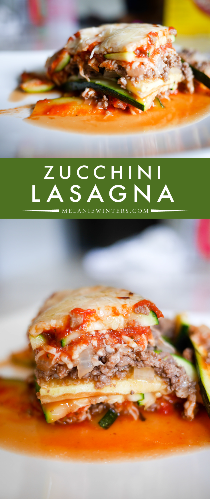 An amazingly delicious, low carb alternative to lasagna. Layers of zucchini, ground beef and pasta sauce make this a simple semi-homemade dinner that you'll want to make again and again.