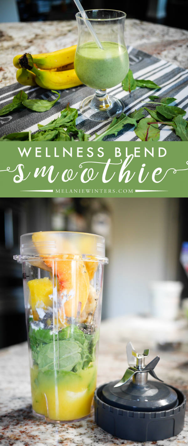 Rich in antioxidants, Omega-3 fatty acids, fiber, protein, calcium and a wide variety of other vitamins, this wellness blend smoothie is  the perfect way to start your day.