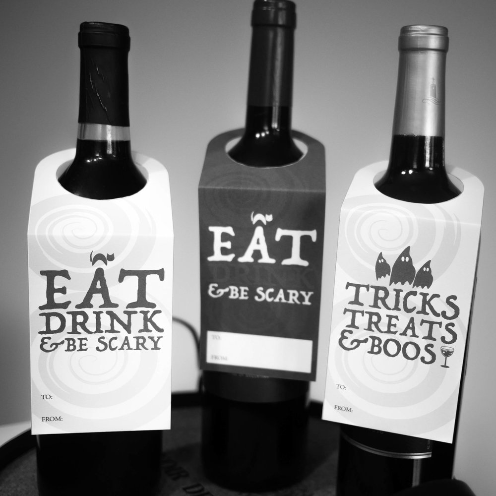 Halloween Wine Tags