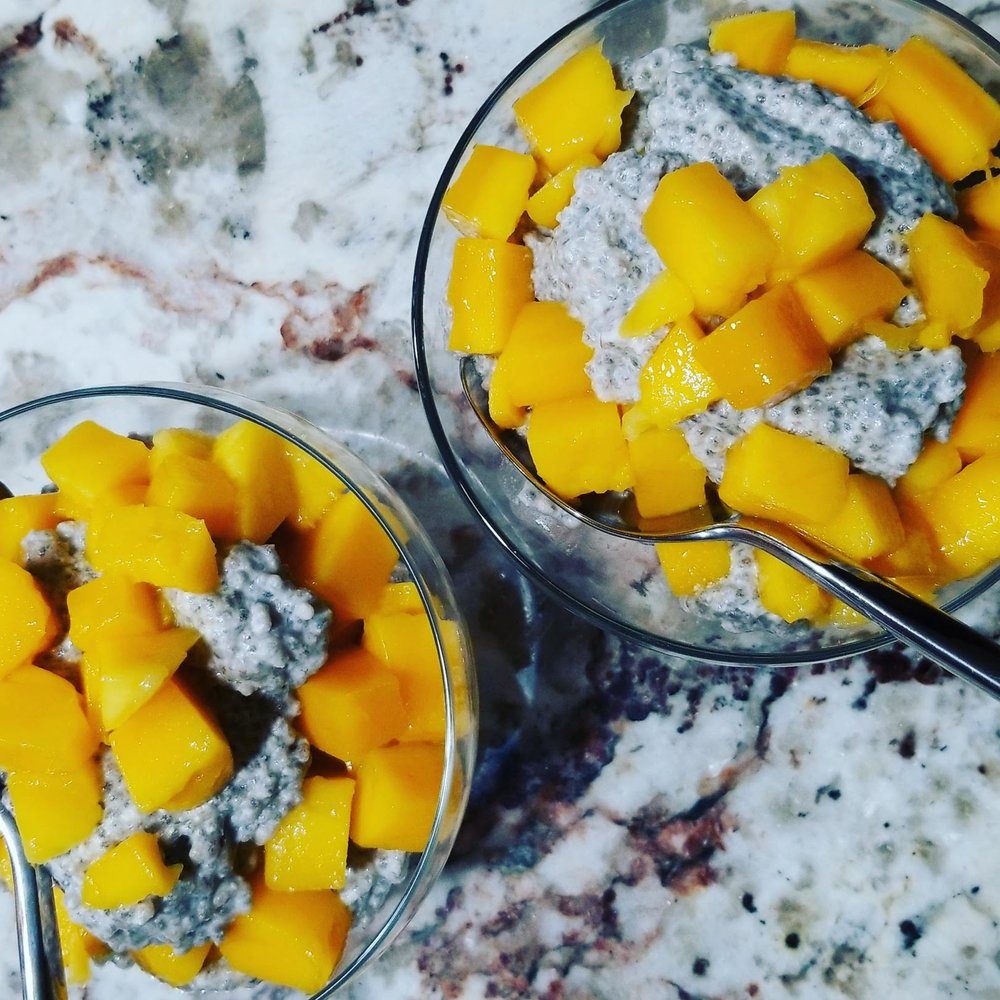 Coconut Chia Pudding with Mango