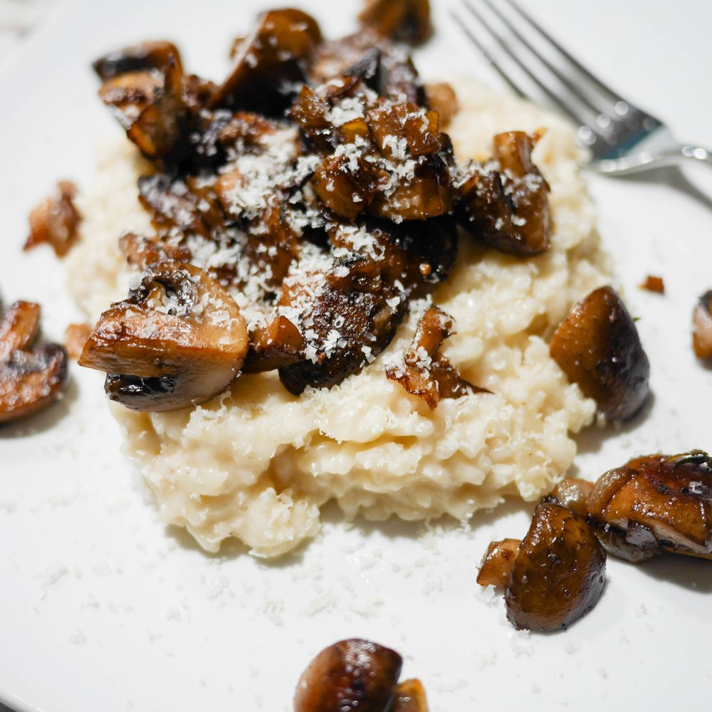 Creamy Risotto and Caramelized Mushrooms