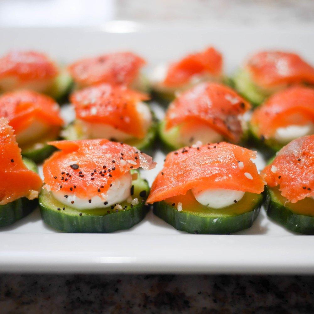 Cucumber Smoked Salmon Bites