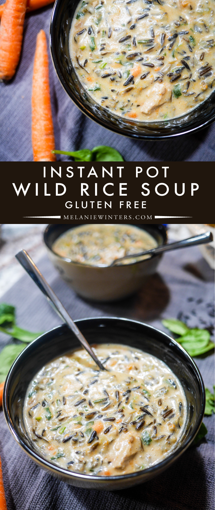 This easy to make instant pot wild rice soup has a few secret ingredients that will take your soup game to a whole new level. Oh, and bonus? It's gluten free!