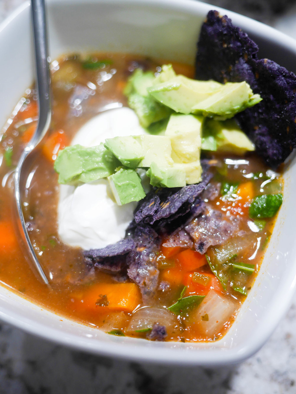 Packed with veggies and loaded with flavor, this set and forget slow cooker soup is sure to be a family favorite.