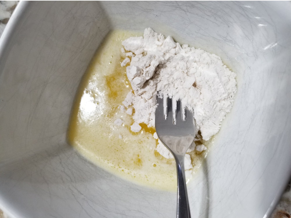 Whisk flour and butter until smooth.