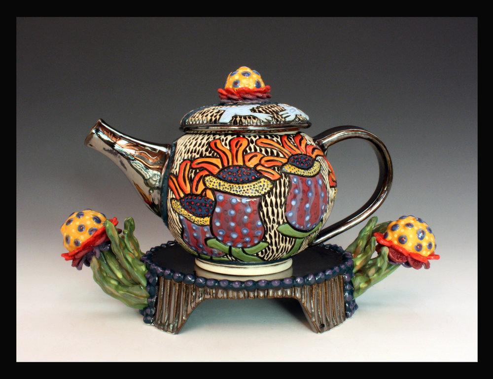 Summer Bloom Tea Pot, 2018