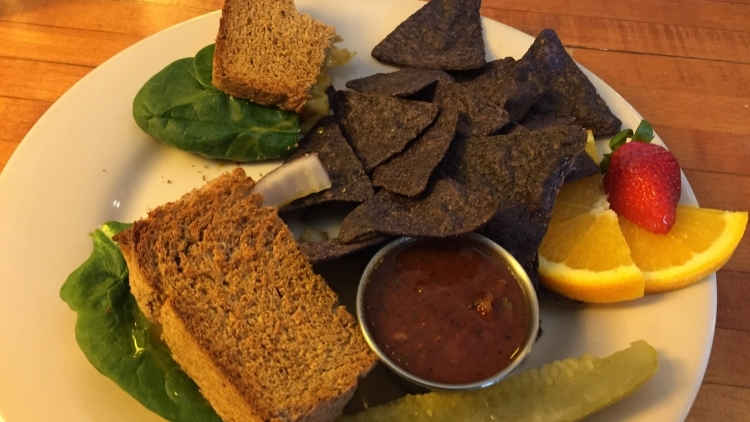 Burke's Grilled Cheese at Whole World Natural Restaurant & Bakery