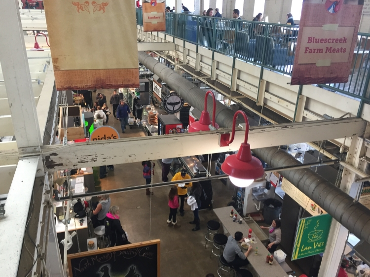 View from the second floor inside the North Market.