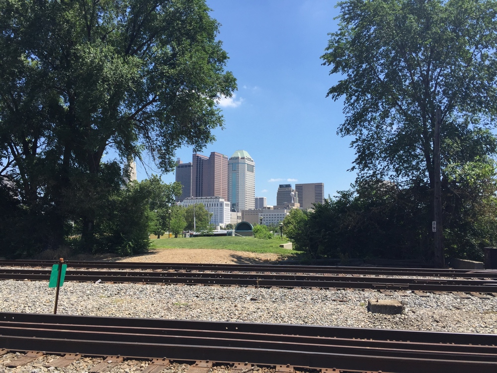 View of downtown Columbus from Franklinton