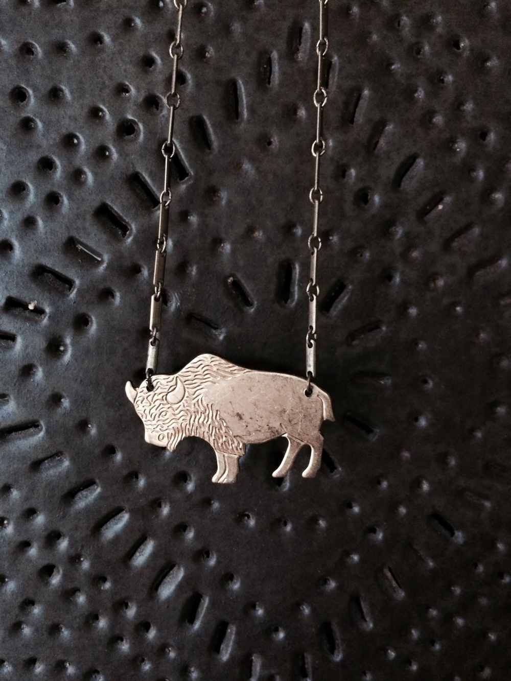 Handmade Bison necklace, from GLEAN