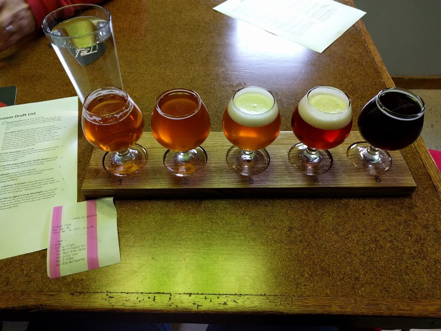 It's a flight! Zaftig Brewing Co.