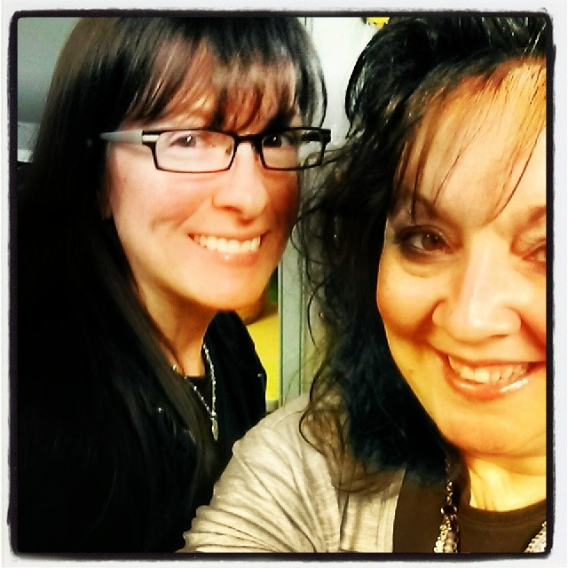 Here I am with my 'work wife,' Juanita! Yes, it was way back in 2013, and yes, this went through some Pinterest filters!