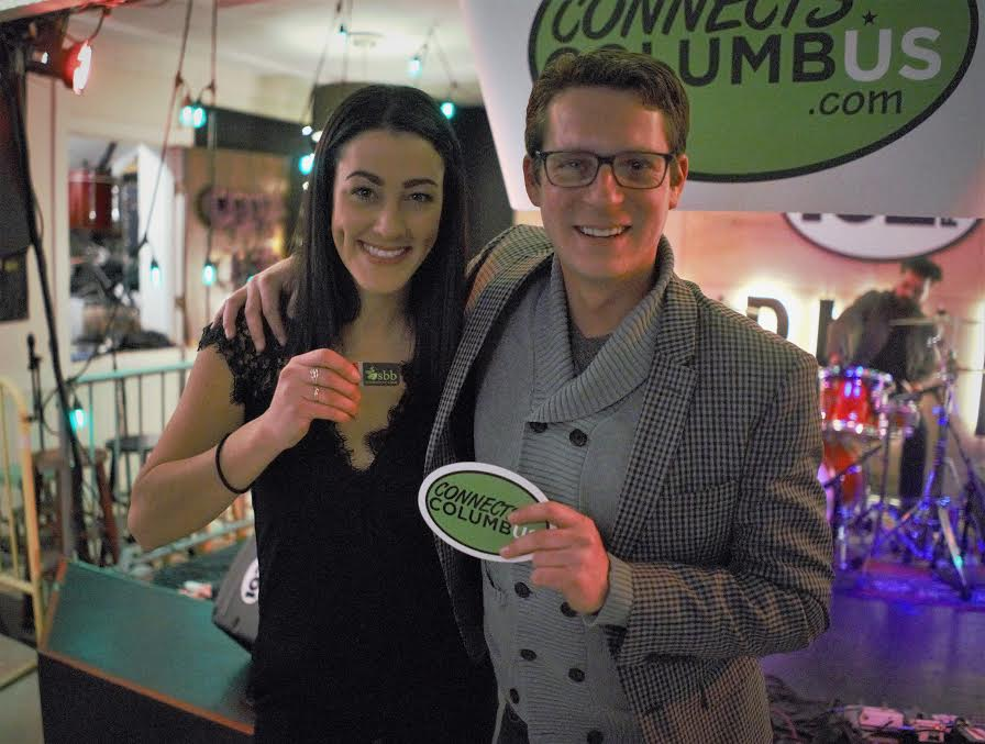 Jacqueline, CEO of Connects Columbus, with Timothy Wolf Starr, founder of Small Business Beanstalk