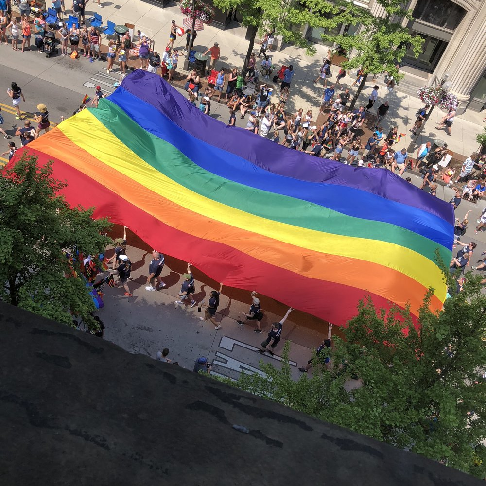 Our view of the 2018 Stonewall Columbus Pride Parade!