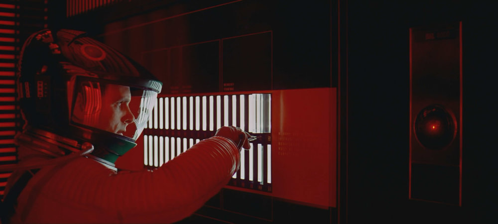 Stanley Kubrick's brilliant '2001 a Space Odyssey' utilizes color to reinforce narrative elements of the story. Read more on Kubrick's approach to color  here .
